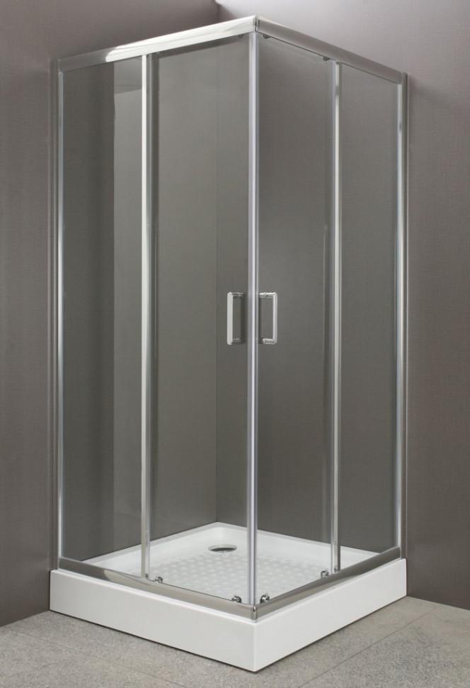 Душевой уголок BelBagno Uno 80х80 см прозрачное стекло UNO-A-2-80-C-Cr душевой уголок belbagno uno r 2 80х80 прозрачный хром uno r 2 80 c cr