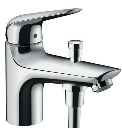 Смеситель для ванны Hansgrohe Novus Monotrou 71321000 смеситель для ванны hansgrohe novus loop 71340000