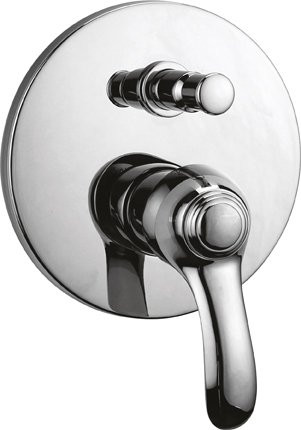 Встраиваемый однорычажный смеситель для ванны с душем хром, ручка хром Cezares Lira LIRA-VDIM-01 недорго, оригинальная цена