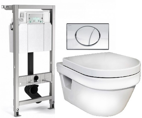 Комплект Gustavsberg Hygienic Flush 512318+5G84HR01 комплект gustavsberg viega с унитазом gustavsberg hygienic flush wws безободковый с сиденье микролифт