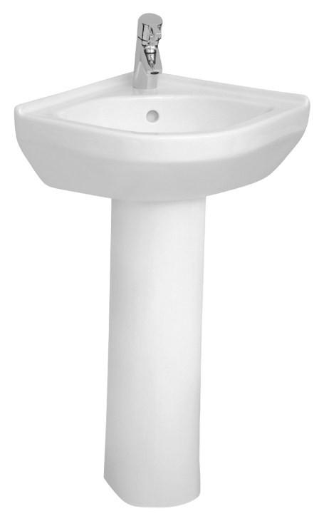 Раковина угловая 56,5 см Vitra S50 5306B003-0999 adilux 0999