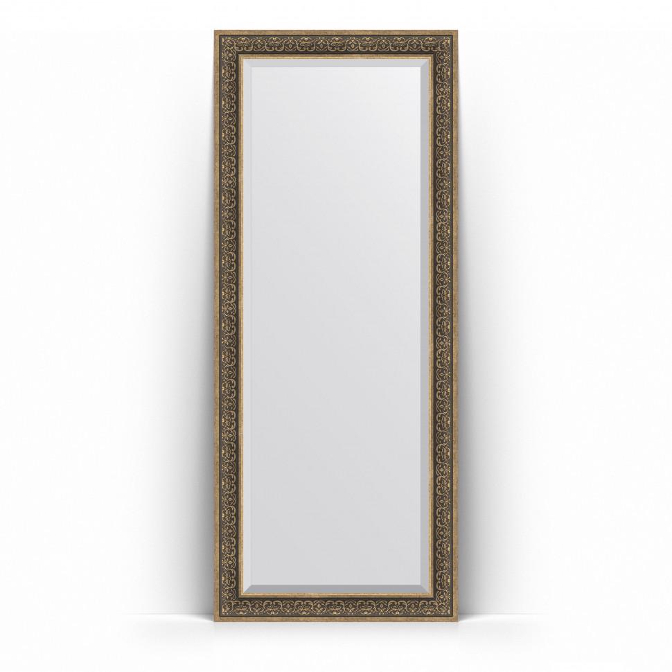 Зеркало напольное 84х204 см вензель серебряный Evoform Exclusive Floor BY 6132 зеркало напольное с фацетом evoform exclusive floor 84x204 см в багетной раме вензель серебряный 101 мм by 6132