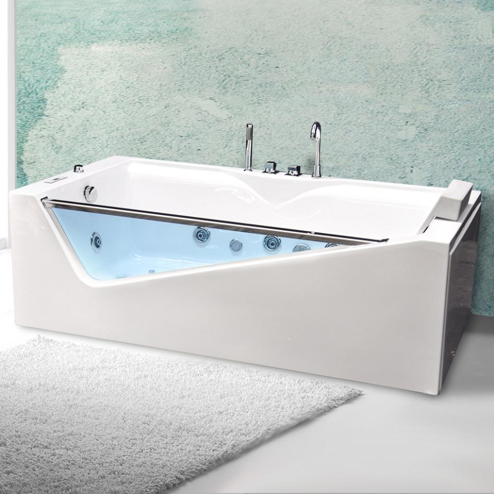Акриловая гидромассажная ванна 180х90 см Grossman GR-18090/1
