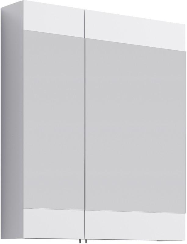 Зеркальный шкаф без подсветки белый глянец 70х80 см Aqwella Brig Br.04.07/W пенал напольный белый глянец aqwella brig br 05 04 k w