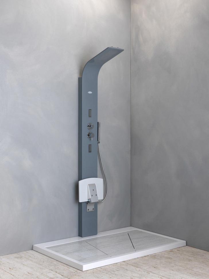Гидpомассажная термостатическая панель Kolpa San Zonda 2100 3FT Graphite - 9070