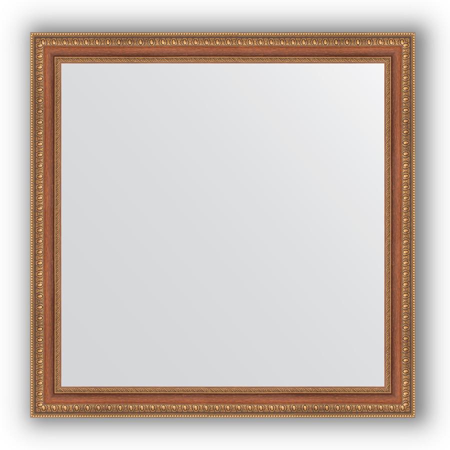 Зеркало 75х75 см бронзовые бусы на дереве Evoform Definite BY 3235