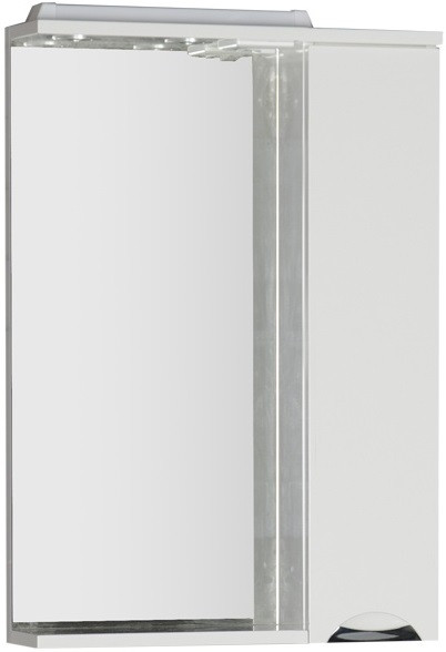 Зеркальный шкаф 60х87 см с подсветкой белый Aquanet Гретта 00177015