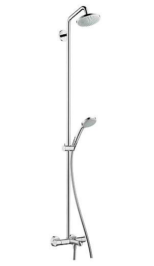 цена Душевая система Hansgrohe Croma 160 Showerpipe 27143000 онлайн в 2017 году