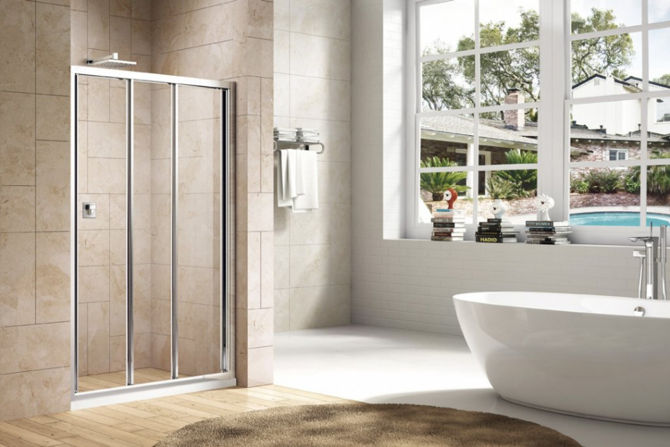 Душевая дверь 170 см Cezares FAMILY-B-BF-3-170-C-Cr прозрачное душевая дверь 170 см cezares family b bf 3 170 p cr текстурное стекло