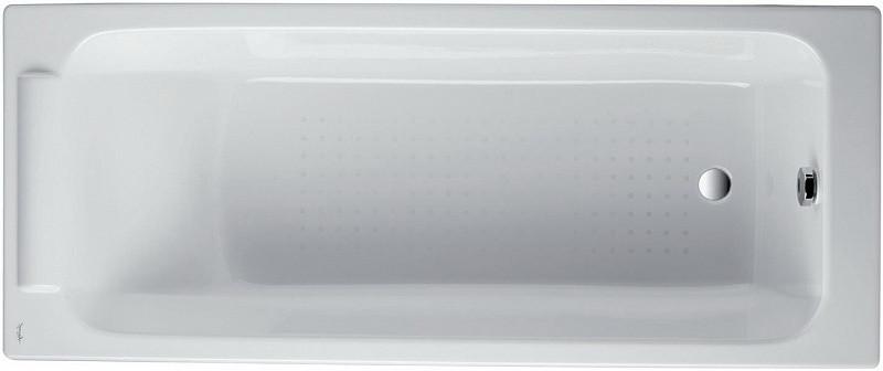 Чугунная ванна 170 x70 см без противоскользящего покрытия Jacob Delafon Parallel E2947-S-00 ванна из искусственного камня jacob delafon elite 170x75 с щелевидным переливом e6d031 00 без гидромассажа