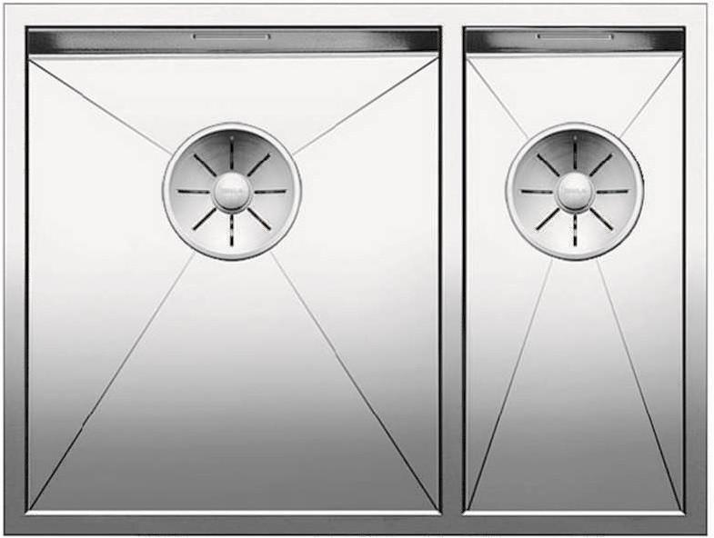 Кухонная мойка Blanco Zerox 340/180-IF InFino зеркальная полированная сталь 521611 цены