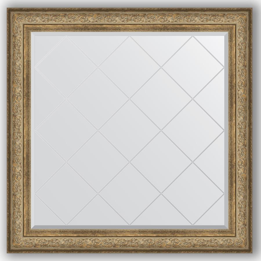 Фото - Зеркало 110х110 см виньетка античная бронза Evoform Exclusive-G BY 4468 зеркало 75х130 см виньетка античная бронза evoform exclusive g by 4230