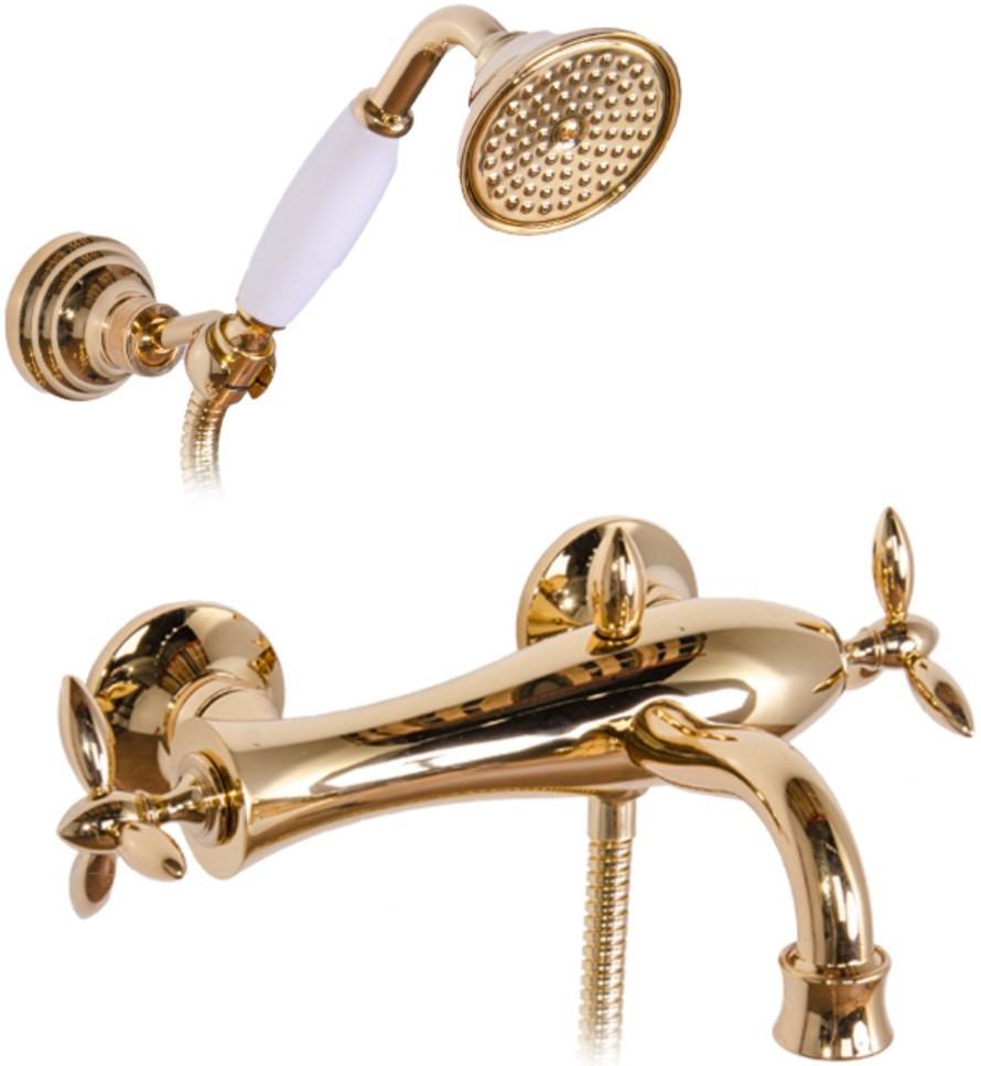 Смеситель для ванны Gattoni Timor 1800118D0ORO смеситель для ванны gattoni timor 18001 хром