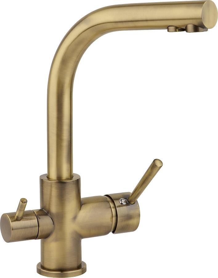 Смеситель для кухни с подключением к фильтру бронза Ukinox UM2191 BR ukinox um2191 cr