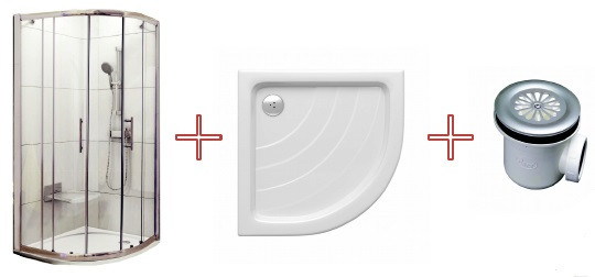 Душевой уголок с поддоном 89,5×89,5×208,5 см Ravak 70508014 фото
