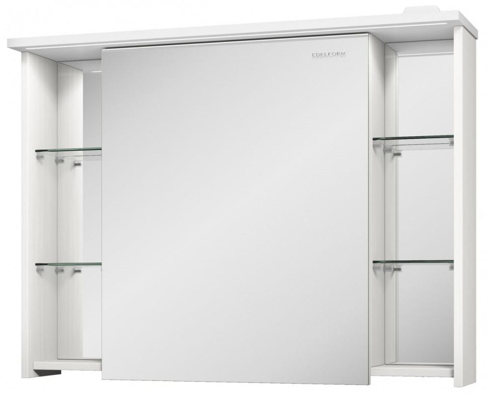 зеркальный шкаф edelform уника 100 белый с дуб гальяно 2 741 45 s Зеркальный шкаф выбеленный дуб 90х71 см Edelform Marino 35651