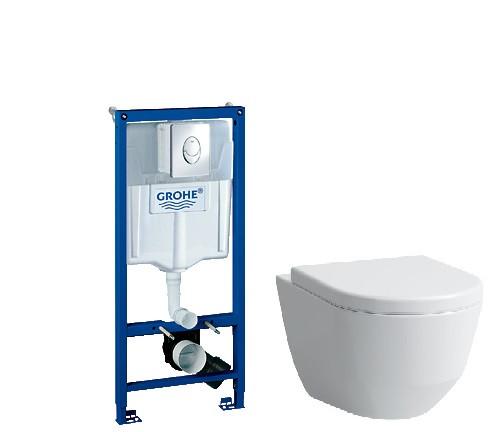 Комплект подвесной унитаз Laufen Pro 8209660000001 + 8969513000001 + система инсталляции Grohe 38721001