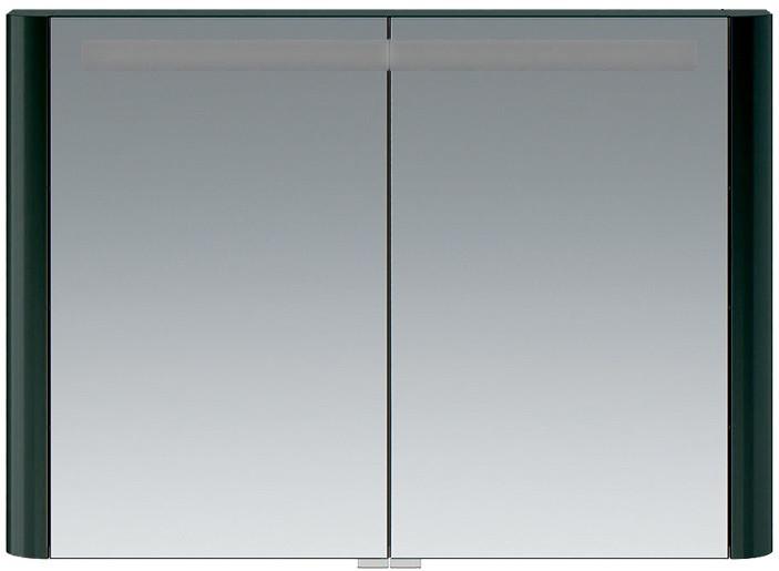 Зеркальный шкаф 100х70 см антрацит глянец Am.Pm Sensation M30MCX1001AG
