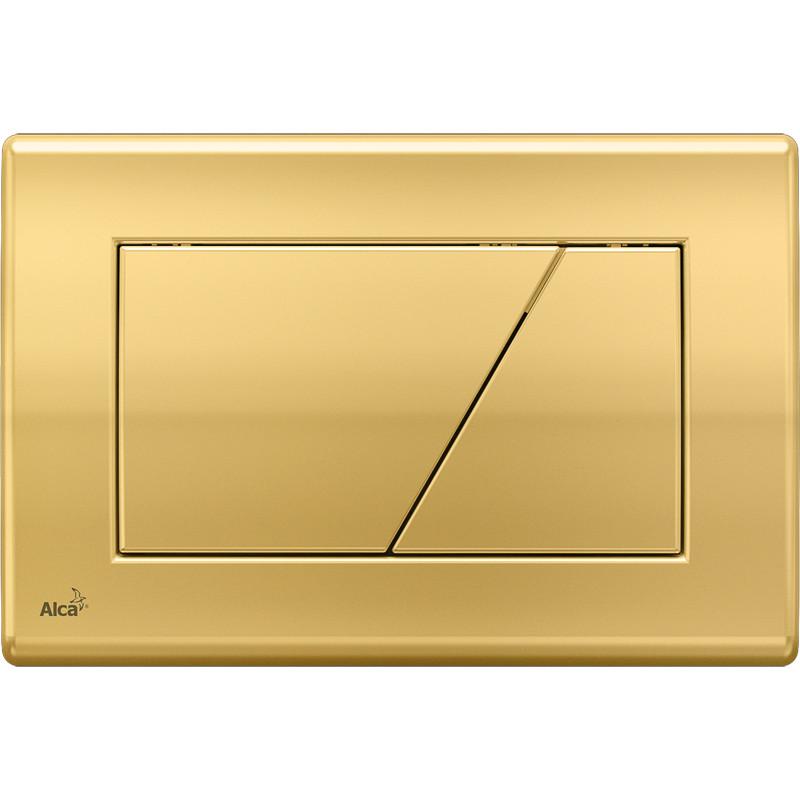 Смывная клавиша золото для двойного смыва AlcaPlast M175