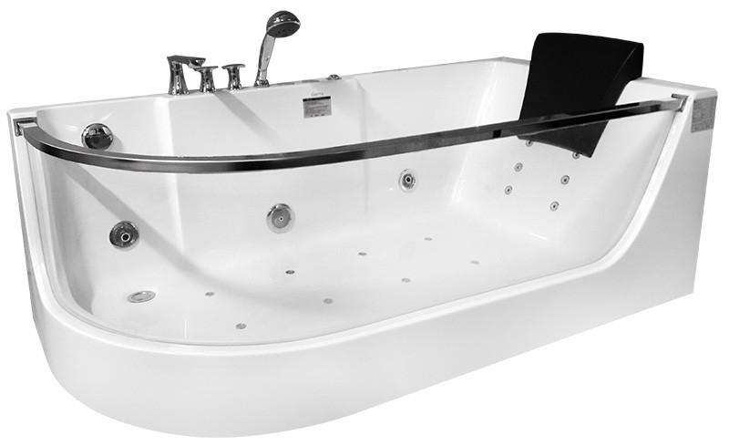 Акриловая гидромассажная ванна 165х80 см R Gemy G9227E R акриловая ванна gemy g9052 ii k r
