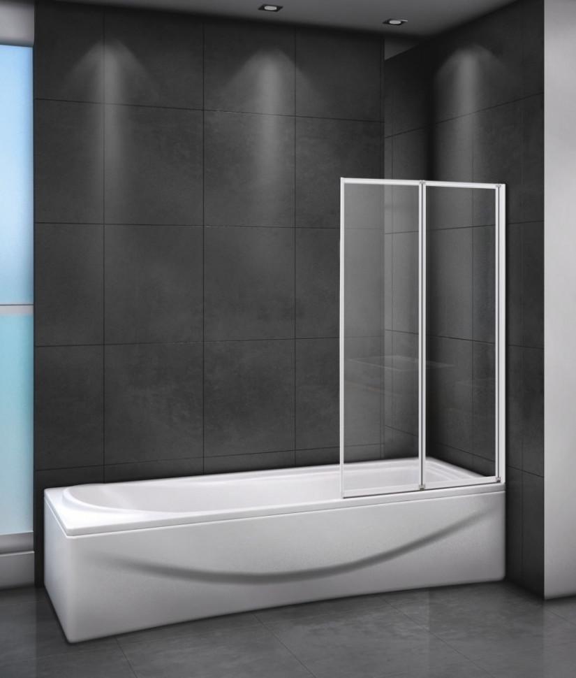 Шторка для ванны 80 см Cezares RELAX-V-2-80/140-P-Bi-R текстурное стекло недорого
