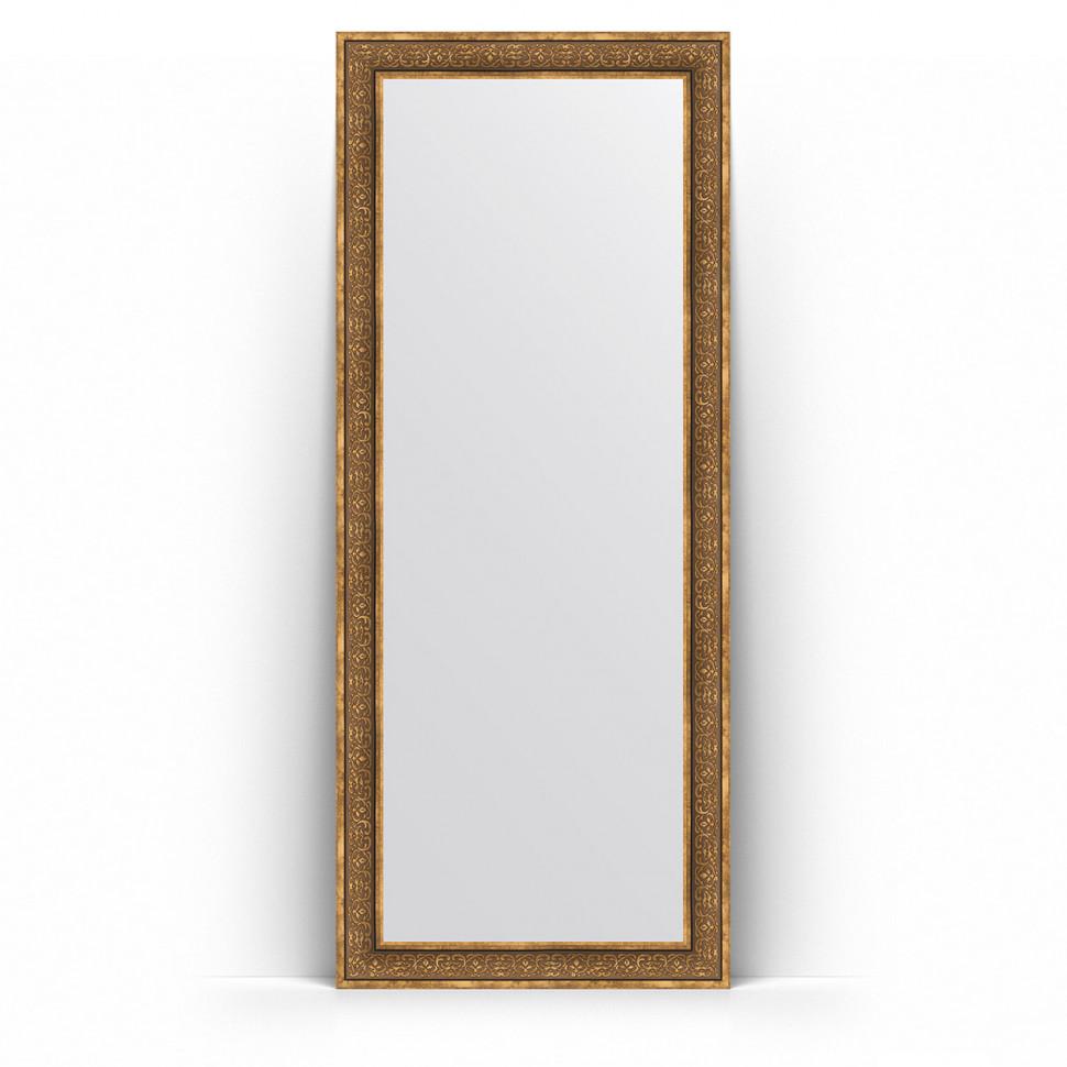 Зеркало напольное 84х204 см вензель бронзовый Evoform Definite Floor BY 6029 зеркало evoform definite 153х63 вензель бронзовый