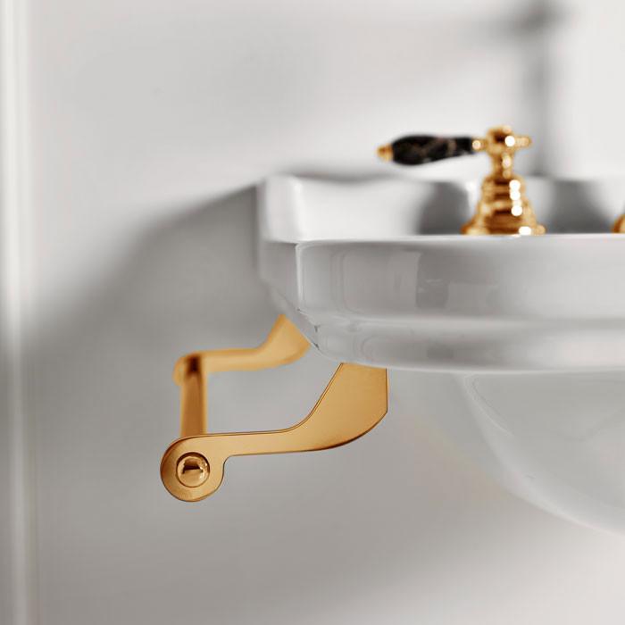 Полотенцедержатель 40 см золото Kerasan Waldorf 740891oro фото