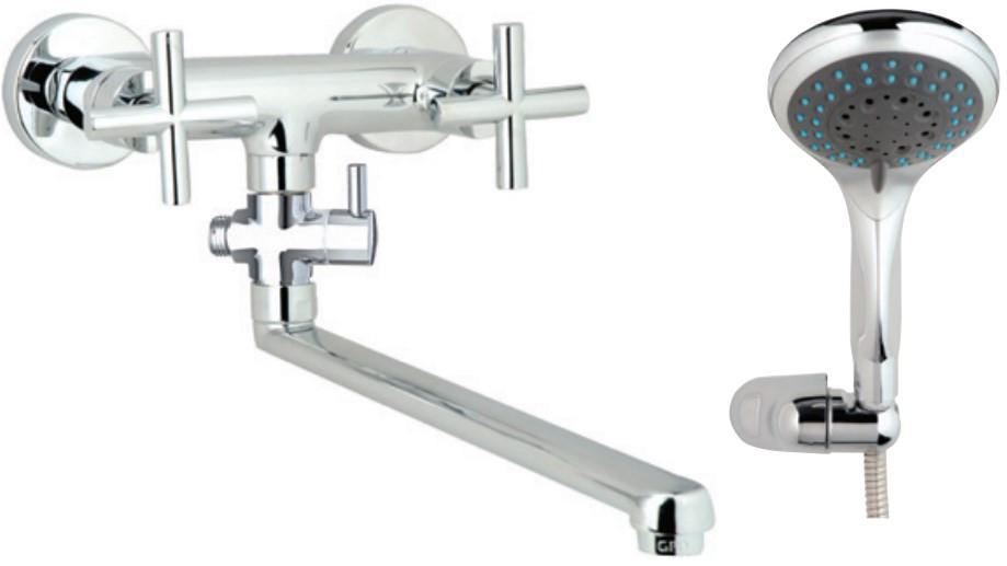 Смеситель для ванны GPD Nino AEB08-3 смеситель для кухни gpd nino ade05