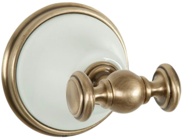 Крючок белый/бронза Tiffany World Harmony TWHA016bi/br