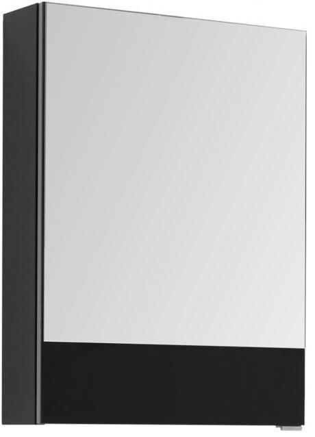 Зеркальный шкаф 50х67 см черный L Aquanet Верона 00207764