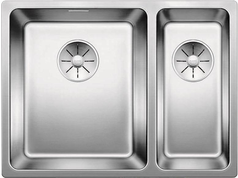 Кухонная мойка Blanco Adano 340/180-IF InFino зеркальная полированная сталь 522975 кухонная мойка blanco claron 500 if infino зеркальная полированная сталь 521576