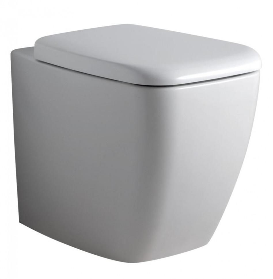 Унитаз приставной с сиденьем микролифт Ideal Standard Ventuno T316301 унитаз с бачком ideal standard tesi aquablade пристенный с сиденьем микролифт