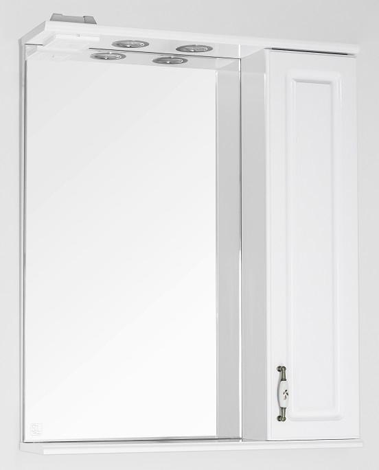 Зеркальный шкаф 65х83 см белый глянец Style Line Олеандр-2 LC-00000050