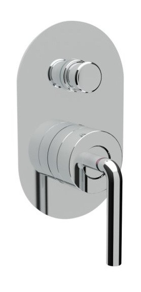Встраиваемый смеситель для ванны хром, ручка хром Cezares Eco ECO-VDIM-01-Cr смеситель для ванны tsarsberg ручка 1202 ис 240051