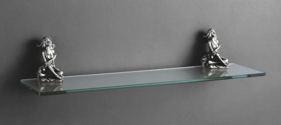Полка стеклянная 60 см серебро Art&Max Athena AM-0613-T t art блузка