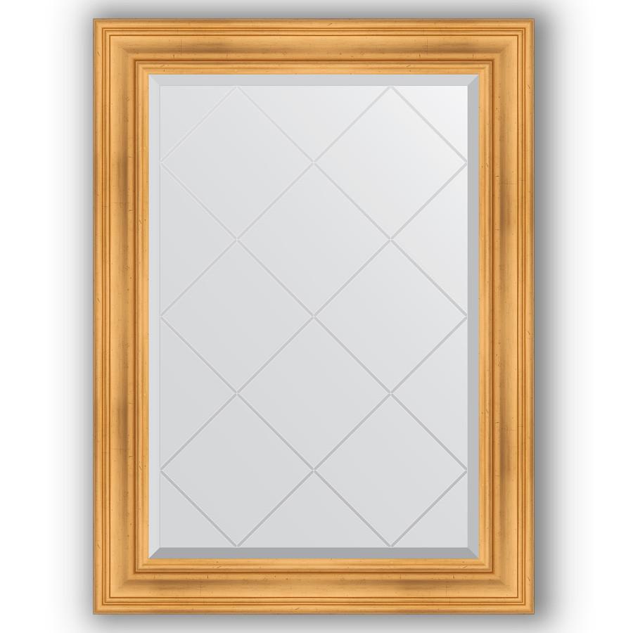 Зеркало 79х106 см травленое золото Evoform Exclusive-G BY 4202 зеркало evoform exclusive 176х116 травленое золото