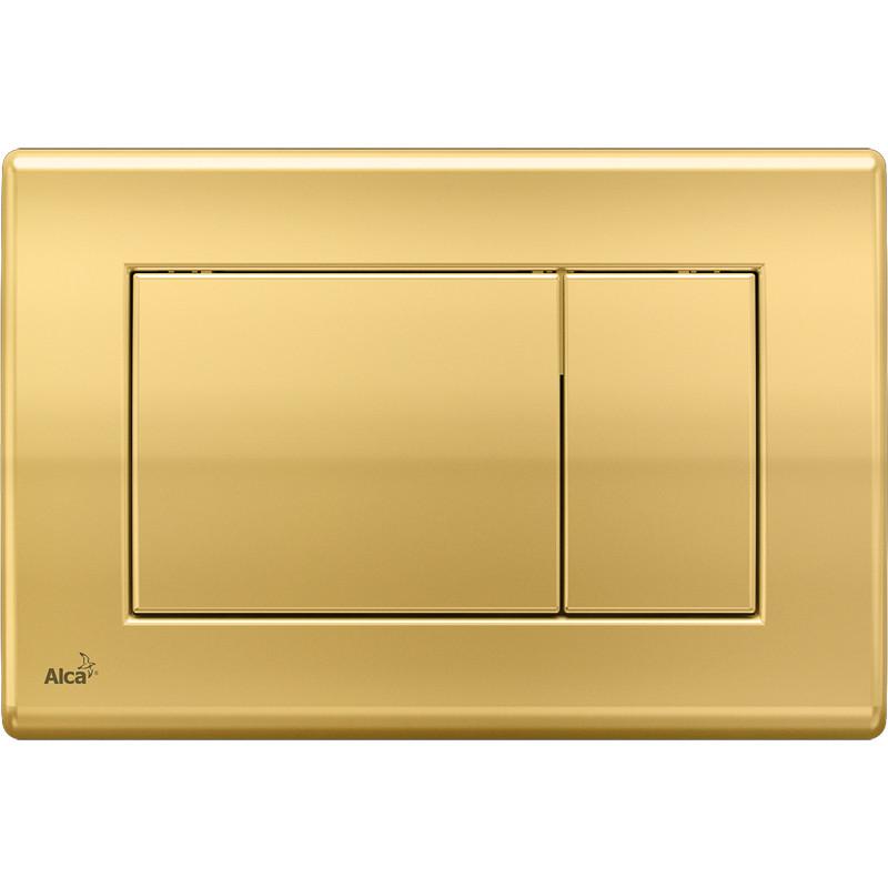 Смывная клавиша золото для двойного смыва AlcaPlast M275