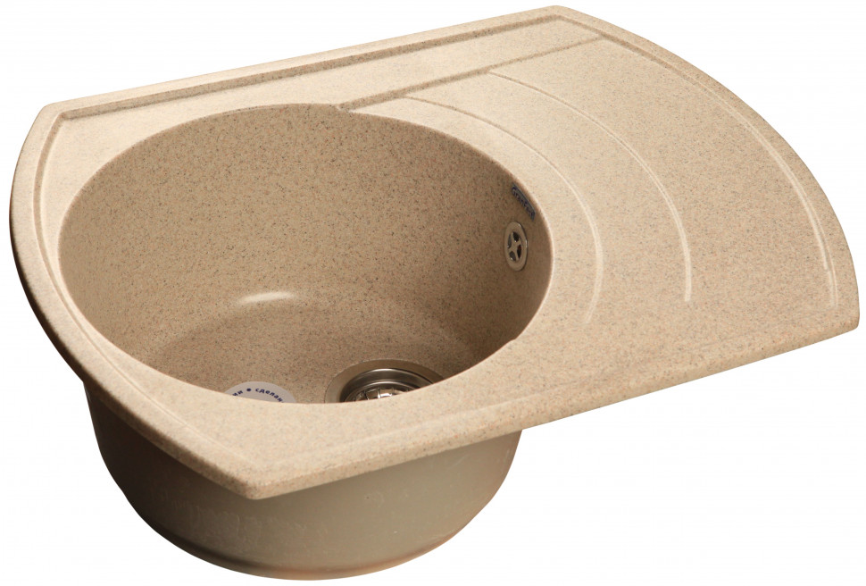 все цены на Кухонная мойка песочный GranFest Rondo GF-R650L онлайн