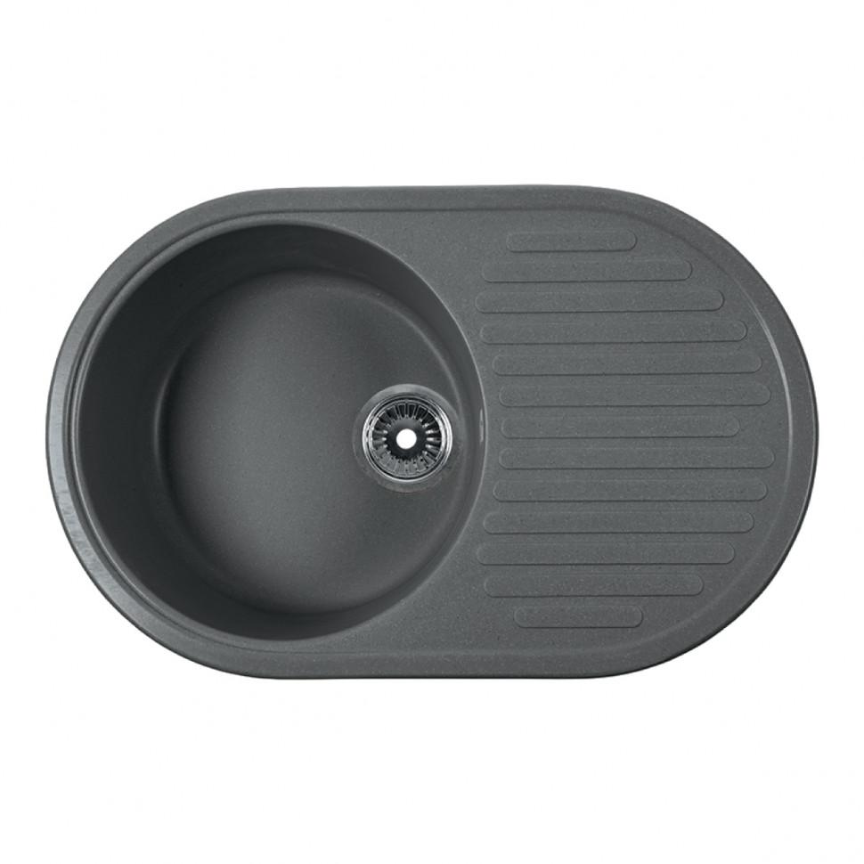 Кухонная мойка серый Rossinka RS74-46RW-Gray-Quartz кухонная мойка rossinka rs48 49s черная