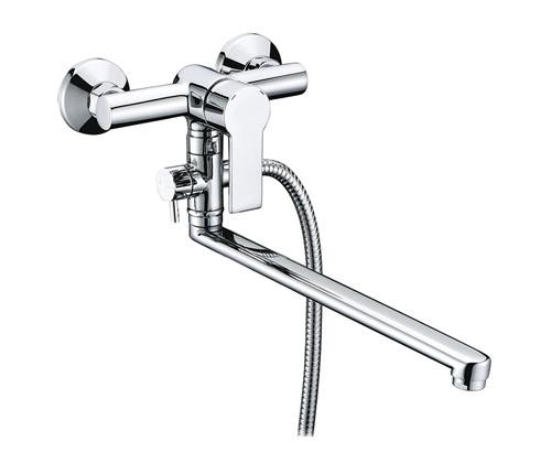 Смеситель для ванны WasserKRAFT Ammer 3702L насос велосипедный складной giyo gm 74 металлический встроенный длинный шланг