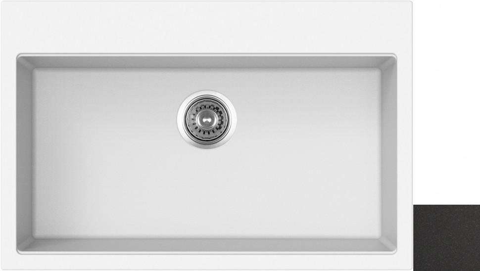 Кухонная мойка оникс Longran Geos GES780.500 - 10 мойка longran ultra uls615 500 15 10 оникс