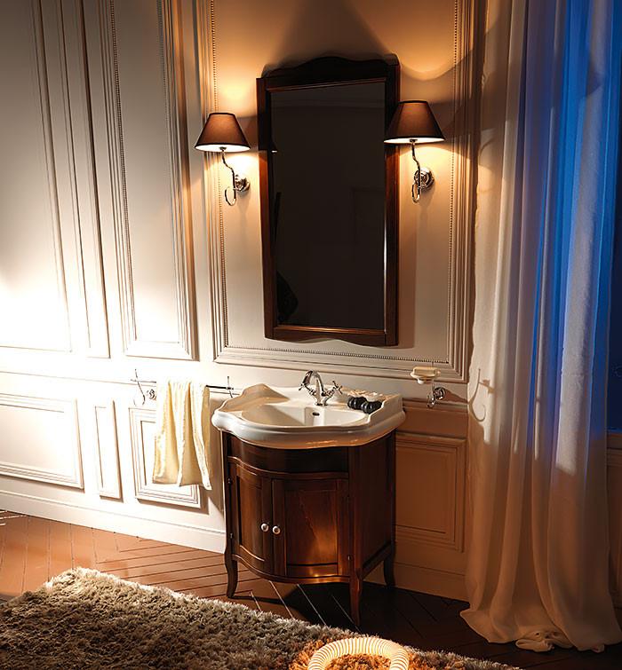 Тумба орех 58 см Kerasan Retro 735140noce kerasan мебель для ванной kerasan retro с дверцами 73 см орех