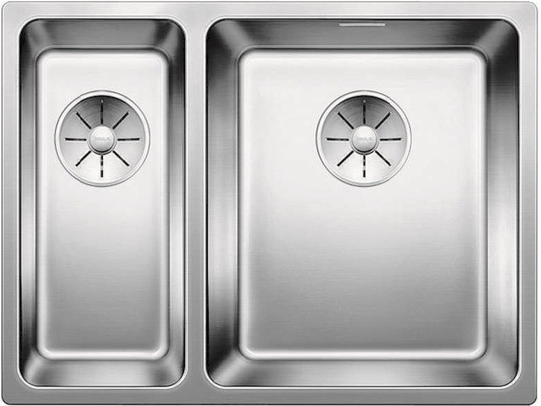 Кухонная мойка Blanco Adano 340/180-IF InFino зеркальная полированная сталь 522973 кухонная мойка blanco claron 500 if infino зеркальная полированная сталь 521576