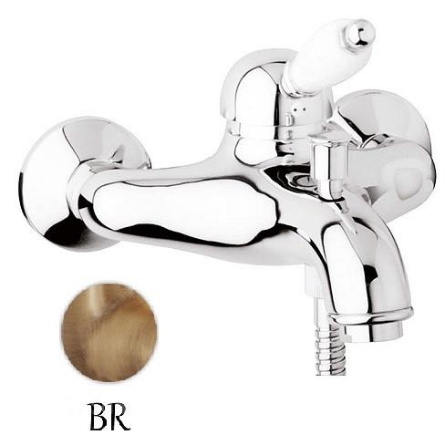 Смеситель для ванны бронза, ручка белая Cezares Elite ELITE-VM-02-Bi