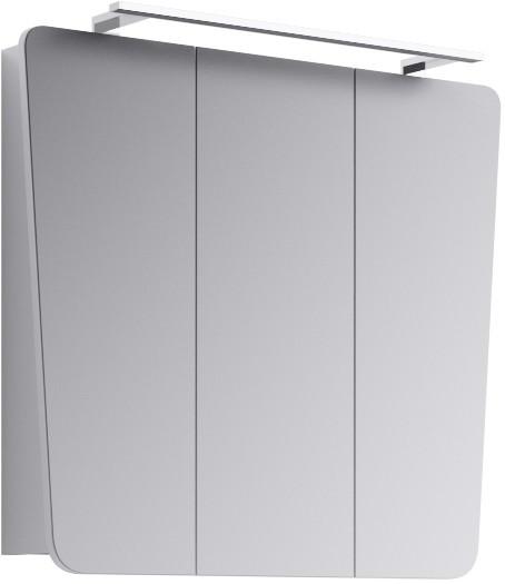 Зеркальный шкаф 79,5х71 см с подсветкой белый глянец Aqwella 5 Stars Symphony-W Sim.04.08/W недорого