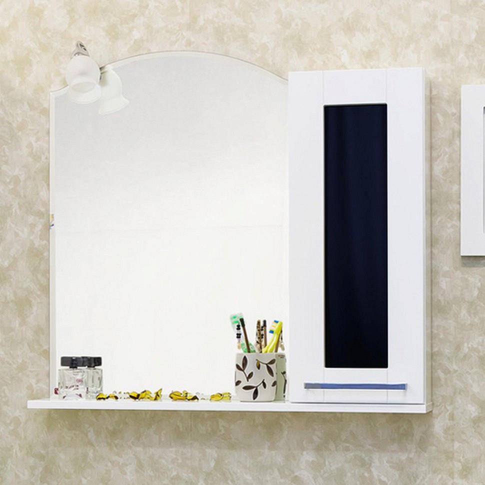 Зеркальный шкаф 81х79 см белый R Sanflor Валлетта H0000000171 раскладушка olsa валлетта с816