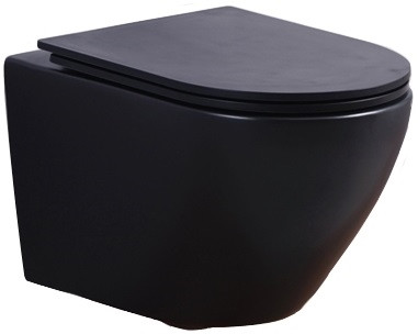 Подвесной безободковый унитаз с сиденьем микролифт Esbano AZALEA MB фото