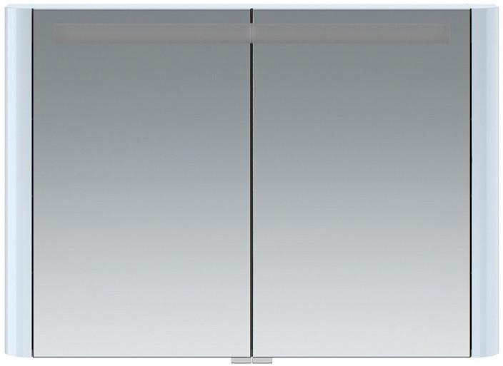 Зеркальный шкаф 100х70 см светло-голубой глянец Am.Pm Sensation M30MCX1001BG
