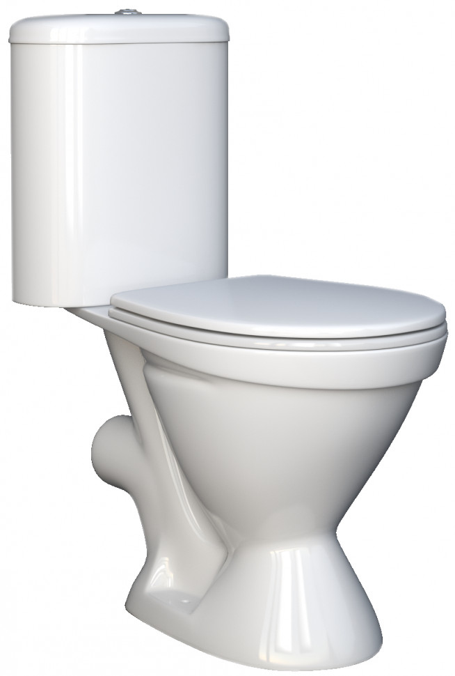 Унитаз-компакт с сиденьем Della Restyle DE141090004 унитаз компакт напольный sanita виктория комфорт