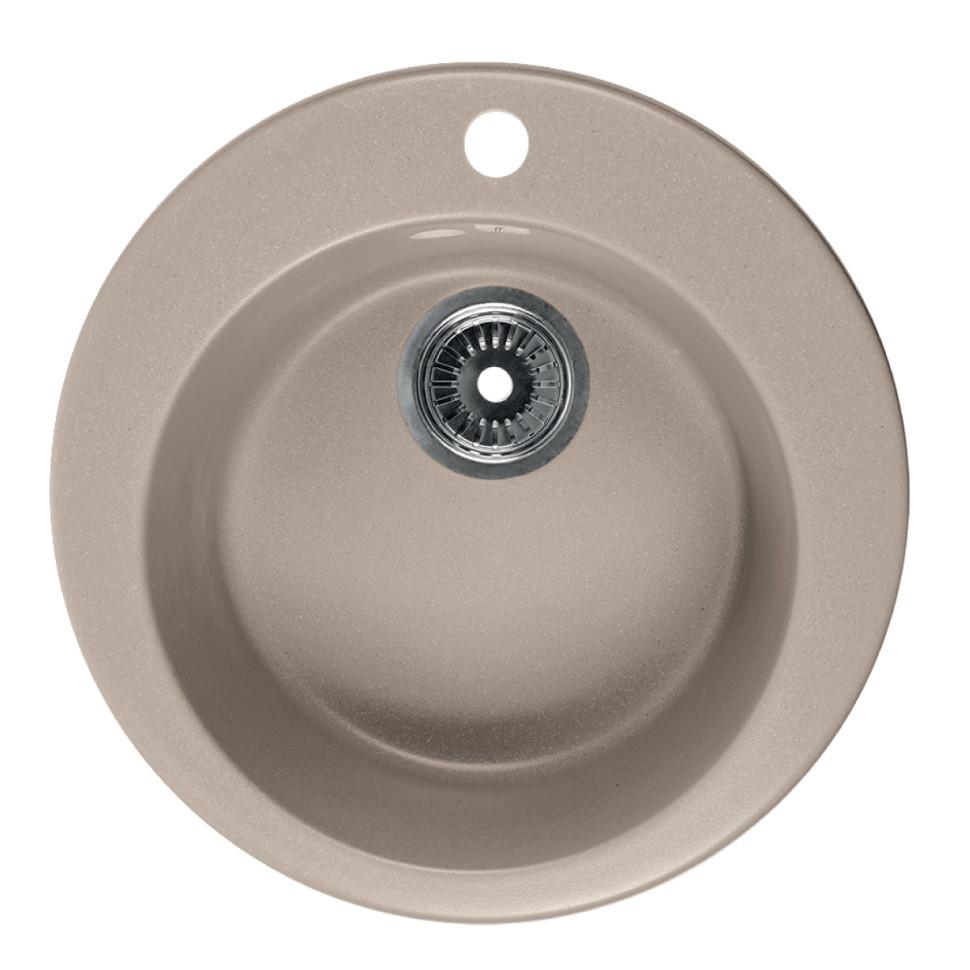 Кухонная мойка бежевый Rossinka RS47R-Beige-Granite кухонная мойка бежевый rossinka rs51r beige granite